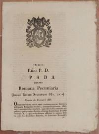 PADA ROMANA PECUNIARIA QUOAD RATAM SCUTORUM 681. 01 VENERIS 13 FEBRUARII 1835