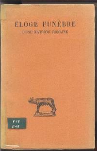 Éloge funèbre d'une matrone romaine (Éloge dit de Turia)