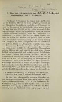 """""""Eine neue Bestimmung der Moleküldimensionen"""" [and] """"Zur Theorie der Brownschen Bewegung"""""""