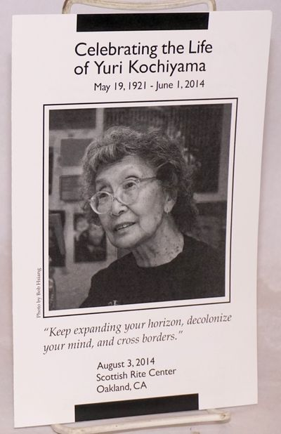 Oakland, 2014. Four-panel brochure with Kochiyama's portrait on front cover, very good; a program fo...
