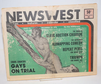 Los Angeles: NewsWest, 1976. Newspaper. 48p., folded tabloid newspaper, ads, services, reviews, news...