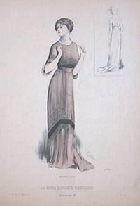 Hand color lithograph from La Moda Elegante Ilustrada.  April 6, 1910.  No. 13