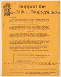 image of Support the Attica Brothers! [handbill]