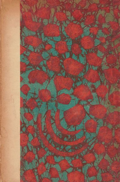 New York: Privately Printed, 1925. First edition. Hardcover. Orig. faux vellum spine, decorated boar...