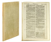"""A Leaf from the 1611 King James Bible. With """"The Noblest Monument of English Prose"""" by John Livingston Lowes & """"The Printing of the King James Bible"""" by Louis I. Newman."""