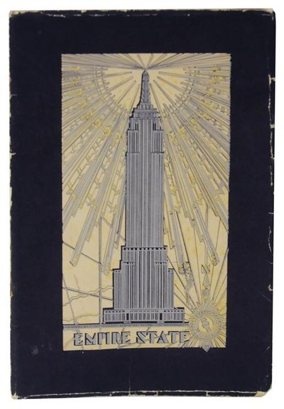 New York: Empire State, Inc, 1931. Presumed first edition. Softcover. Published to commemorate the c...