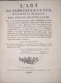 image of L'Art de fabriquer le fer, de fondre et de forger des pièces  d'artillerie..