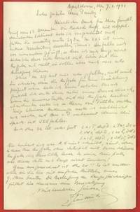 Letter to Wolfgang Pauly