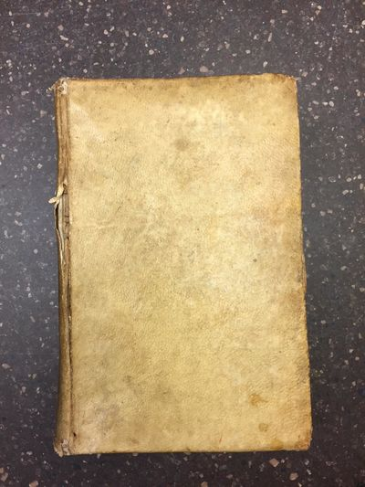 Rome: Libraria de Fratelli de Roffi, 1727. first edition. Thick 12mo in ivory vellum hardcovers with...
