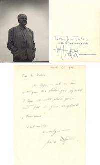 """PS. 3 ½"""" x 4 ½"""". No date . New York. A photograph signed """"To Mrs. John T. Willis with kind r..."""