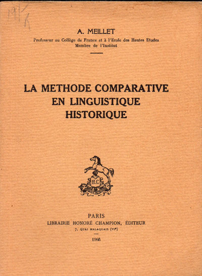 Paris: LibrairieHonore Champion, 1966. Paperback. Very Good. 117pp. Light rubbing and soiling, else ...