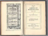 image of Annals of American Bookselling 1638-1850