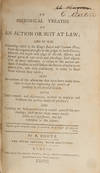 View Image 2 of 2 for An Historical Treatise of an Action or Suit at Law.. Inventory #71681