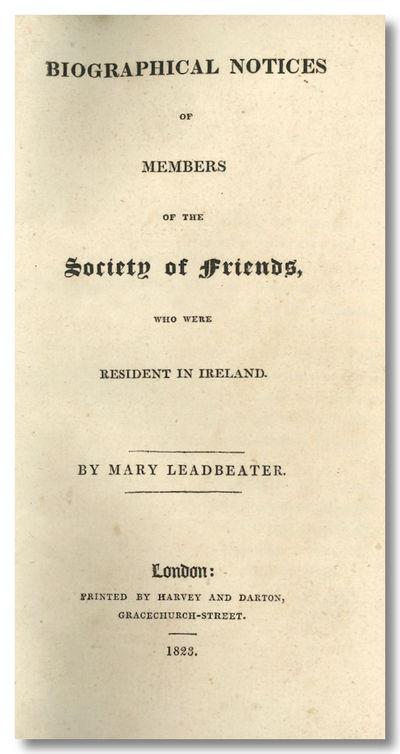 London: Printed by Harvey and Darton, 1823. ,366,pp. Small octavo. Contemporary three-quarter calf a...