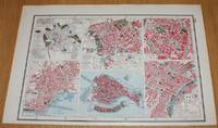 image of Street Plans of Cities in Italy - Rome (Ancient and Modern), Naples, Venice, Milan and Turin from Harmsworth's 1922 Atlas of the World - Single Sheet