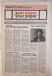 image of Our Paper, Your Paper; the gay family paper of the Santa Clara Valley; vol. 2, #19, September 28, 1983
