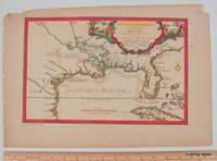 [ MAP ] Les Costes Aux Environs De La Riviere de Misisipi, Decouvertes par Mr. de la Salle en 1683 et reconnues par Mr. le Chevallier d'Iberville en 1698 et 1699