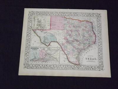 Philadelphia, 1869. Unbound, colored engraved map, decorative boarder, 22 1/2