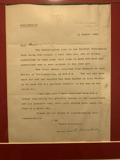 �Confidential� typed letter signed