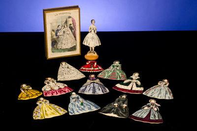 Paris: H. Rousseau, . An Elegant 19th Century Paper Doll With Multiple Gowns . La Coquette. Paris: H...