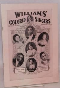 American folk songs; as sung by Williams' Jubilee Singers