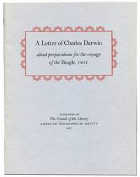 A LETTER OF CHARLES DARWIN: About the Preparations for the Voyage of the Beagle, 1831