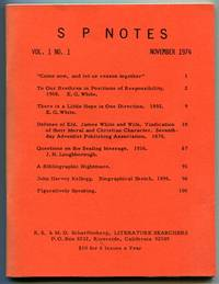 S P Notes Vol. 1 No. 1 (November 1974)