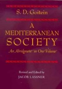 A Mediterranean Society: An Abridgment in One Volume by S. D. Goitein - 2003-02-03
