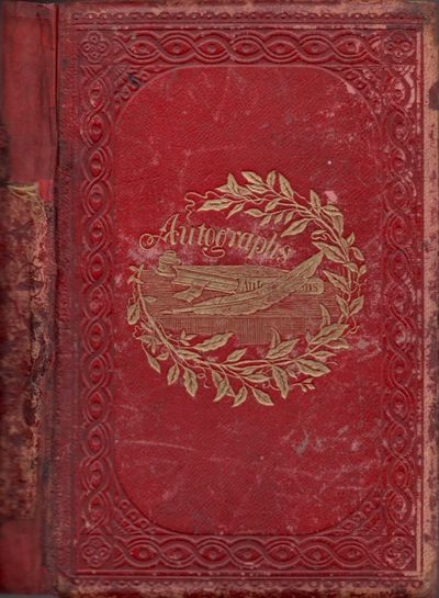 New Hampton, New Hampshire, 1861. Autograph Album. Good. Leather Bound. Approx. 8