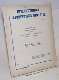 Organization report presented by Pierre Frank to the Second Conference Since Reunification (Eighth World Congress). International information bulletin (June 1966)