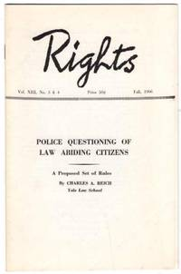 Rights Notebook. Fall, 1966. (Volume XIII Number 3 & 4)