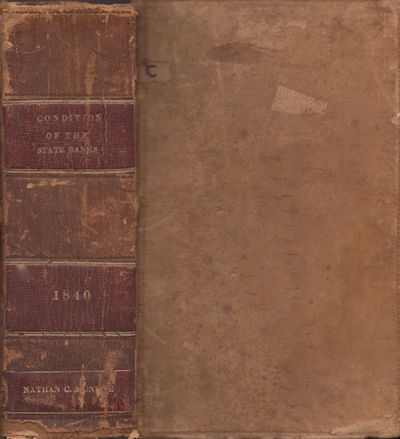 Washington D. C.: United States House of Representatives, 1841. First Edition. Full calf. Fair. Thic...