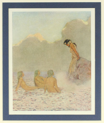 Duffield & Company, 1910. Single offset color print, 5 x 6.5 inches, matted, originally tipped in. F...