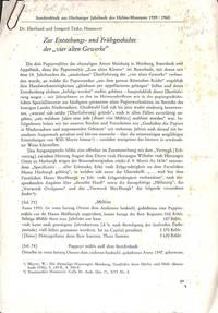 Zur Entstehungs- und Frühgeschichte der Vier alten Gewerke. by  EBERHARD & IRMGARD TACKE - from Frits Knuf Antiquarian Books (SKU: 13478)