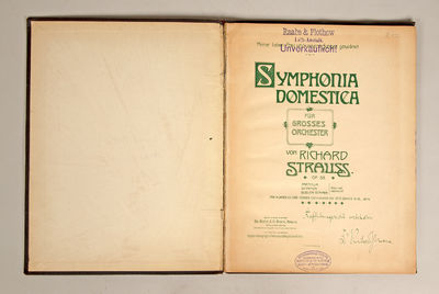 Berlin: Ed. Bote & G. Bock , 1904. Folio (330 x 265 mm). Contemporary black cloth boards with origin...