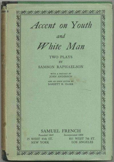 New York: Samuel French, 1935. Hardcover. Fine/Very Good. First edition. Fine in a near very good in...