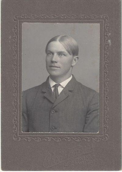 Ephraim, UT: Christensen, 1905. Carte de Visite. Silver gelatin photograph on a gray Christensen mou...