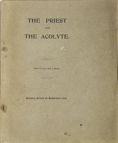 N.p.: Printed for Private Circulation Only, 1894. First edition. 44 pp. 1 vols. 8vo (8-1/2 x 6-7/8 i...