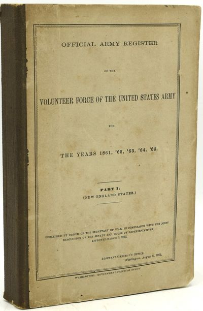 Washington: Government Printing Office, 1865. Soft Cover. Good binding. In printed drab wrappers, ba...