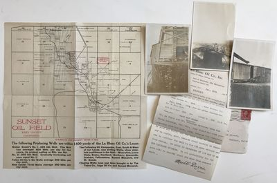 [Oakland, 1909. About very good.. Six pieces, including three real photo postcards, typed letter, fo...