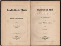 Geschichte der Musik im Zeitalter der Renaissance von Patestrina an. Fragment. Vierter Band