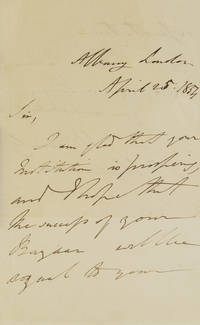 """Autograph Letter Signed. """"I am glad that your Institution is prospering and I hope that the..."""