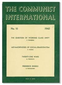 The Communist International, No. 10, October, 1940