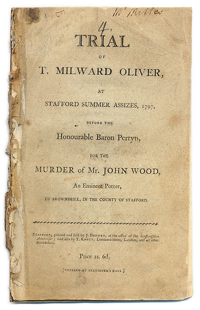 1797. Stafford, 1797. Stafford, 1797. Death at the Hands of a Rejected Suitor . Oliver, T. Milward ,...
