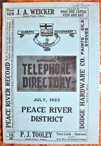 image of Official Telephone Directory. July, 1923 Peace River District