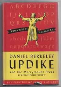 Printers' Valhalla: Daniel Berkeley Updike and the Merrymount Press