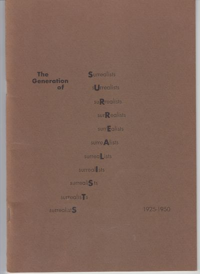 New York: Blue Moon Gallery. 1970. First Edition; First Printing. Softcover. Wraps, near fine copy b...