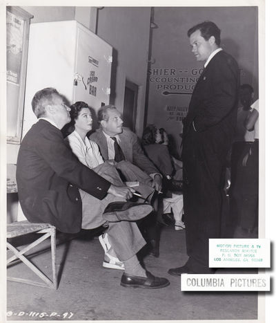 Culver City, CA: Columbia Pictures, 1947. Vintage photograph of director Charles Vidor and stars Ros...