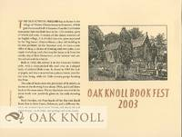OAK KNOLL BOOK FEST 2003