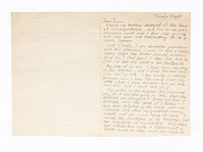 , 1943. Original Autograph Letter Signed and addressed to childhood friend Ian MacDonald. 3 pages ha...